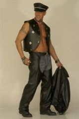 Unisex Biker/Cowboy Leather Effect Chaps